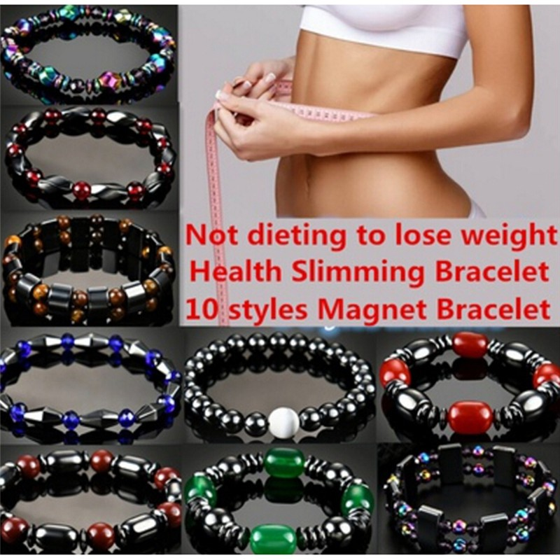 【Eeetmo】Magnetic Bracelet Weight Loss Natural Beads Stone Therapy Health Care Jewelry