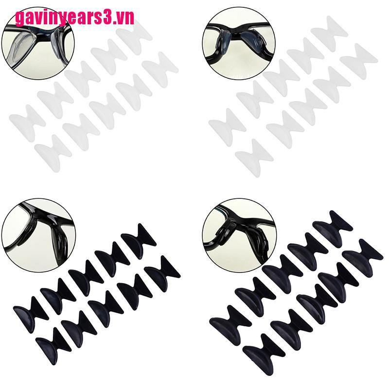 {GAV3&VN}5Pairs Glasses Eyeglass Sunglass Spectacles Anti-Slip Silicone Stick On Nose Pad