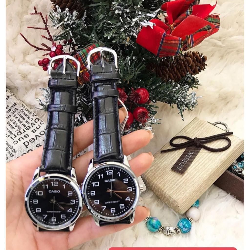 Đồng hồ nam dây da chính hãng Casio MTP-V001L-1BUDF