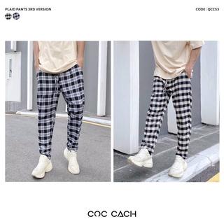 Quần vải baggy unisex COCCACH caro Qccs3 - by COC CACH thumbnail