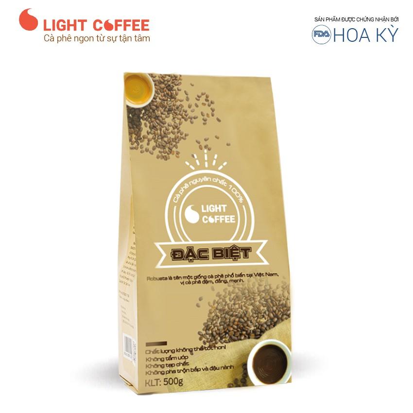 Cà phê rang xay Robusta nguyên chất 100% Đặc biệt Light Coffee