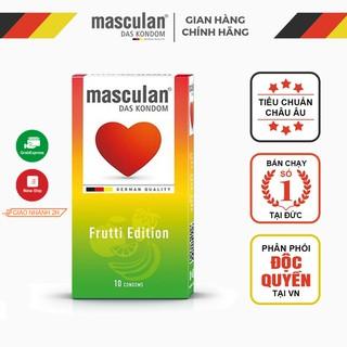 Bao cao su Đức Masculan - Hương hoa quả (Táo, Dâu tây, Hoa quả nhiệt đới) - Frutti Edition - 10 bao thumbnail