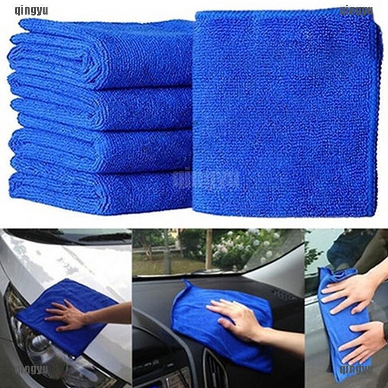 5 khăn lau xe hơi mềm mại chống trầy màu xanh