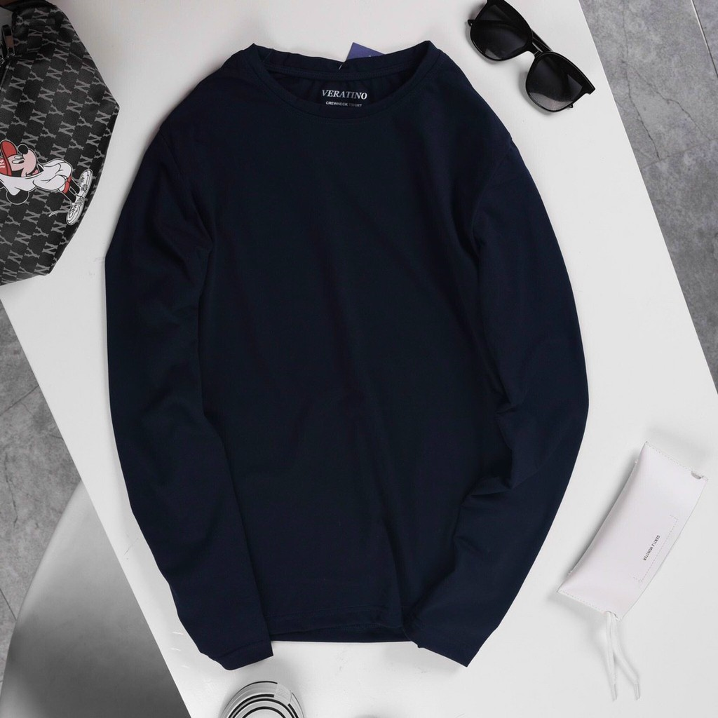 Áo Thun Dài Tay Cổ Tròn Nam chất thun cotton đẹp dáng ôm nhẹ phù hợp cho nam - King Man Store