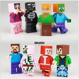 Lego Minifigures nhân vật minecraft