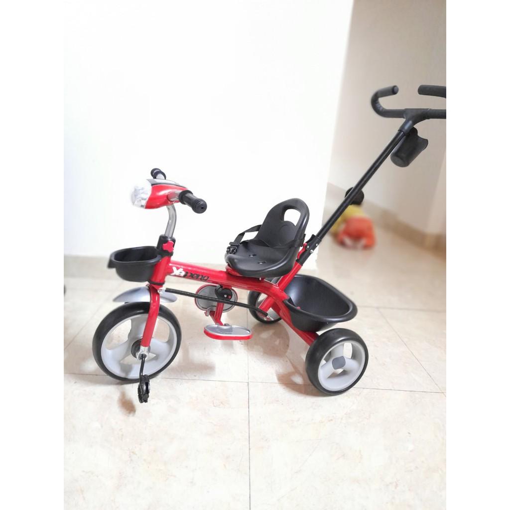 Xe đạp 3 bánh tay đẩy có đèn và nhạc JT-516