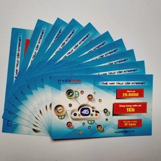 Combo 5 thẻ data 3g mobifone loại 1Gb