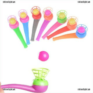 [Shine] 2pcs Kid Plastic Pipe Balls Toy Blow Blowing Toys Children Gift Wedding Party [LT]