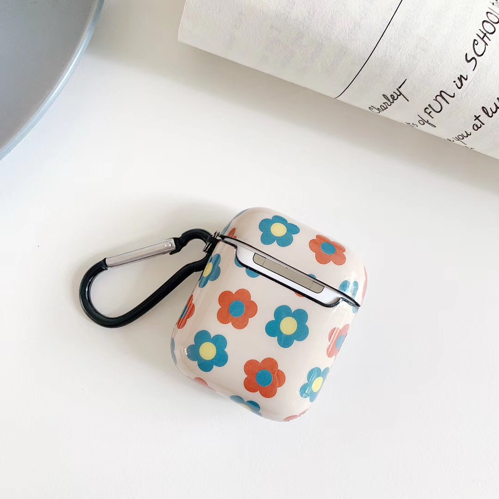 Casing AirPod Charging Headphone Case Full Flower Ins style Pattern AirPods Case For AirPods 1 and AirPod 2
