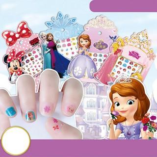 Frozen Princess Stickers Mickey Mouse 3D Cute Cartoon Nail Art Sticker Waterproof Shiny Manicure DIY Tools _I thumbnail