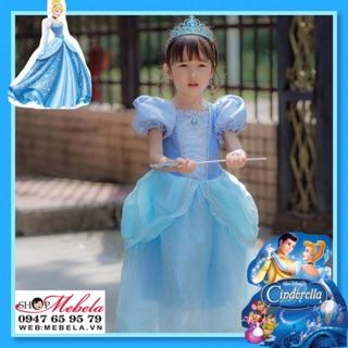 Váy đầm công chúa Lọ Lem - Cinderella cho bé 15-33kg có clip shop tự quay