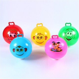 [BEW] Inflatable Hopping Jumping Ball Bouncer Hopper Handle Kid Outdoor Beach Toy Gift [OL]