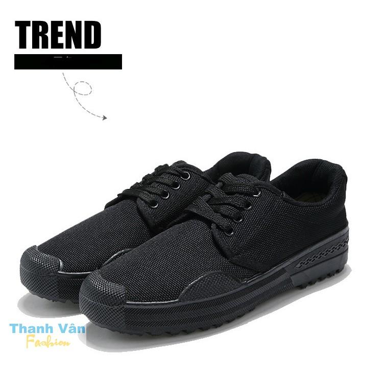 Giày vải đi phượt, leo núi, thể dục dành cho cả nam và nữ, size từ 35-45 (vải đen)
