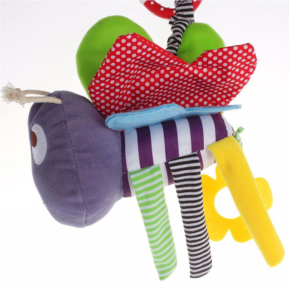 Bee Baby Toys 0-12 Months Plush Doll Rattle Kids Mobile Hanging Bed Bell Car Brinquedos Bebes