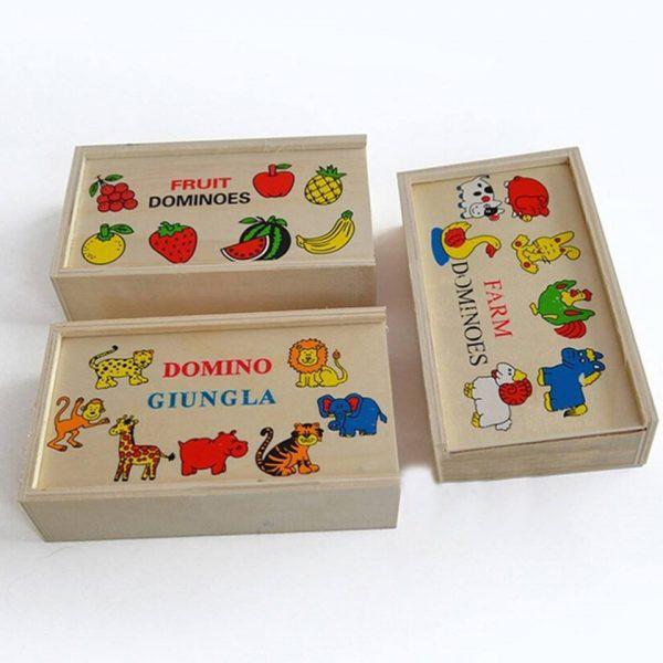 Đồ chơi gỗ cho bé dạng hộp domino