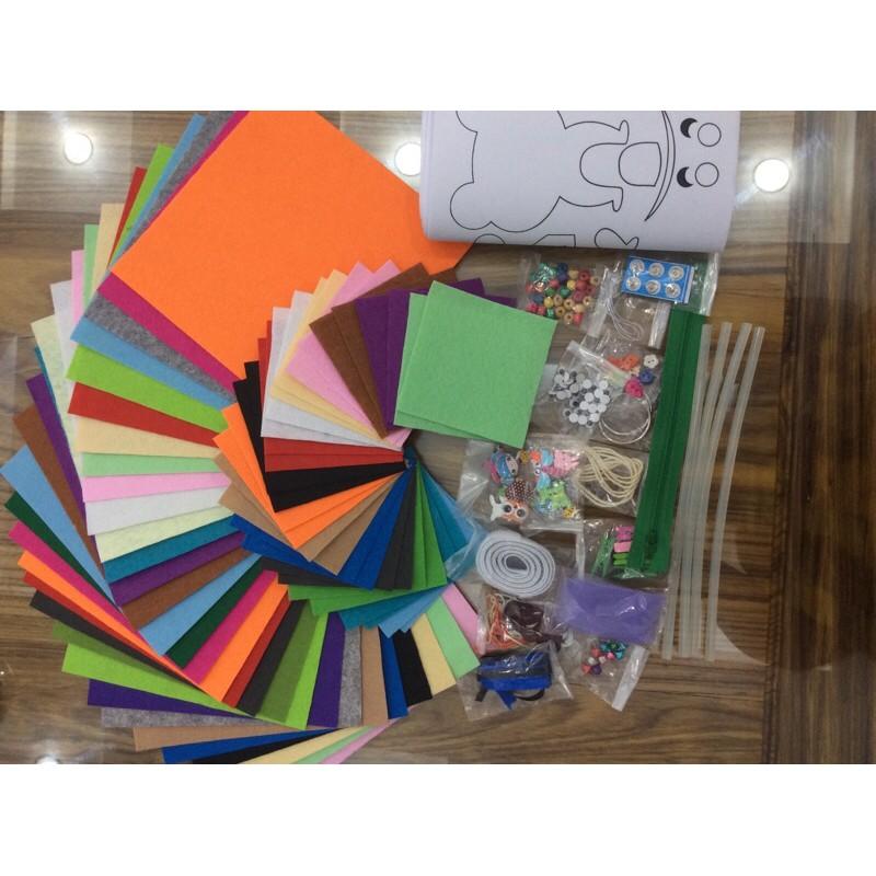 Combo đầy đủ nguyên vật liệu làm sách vải cho bé