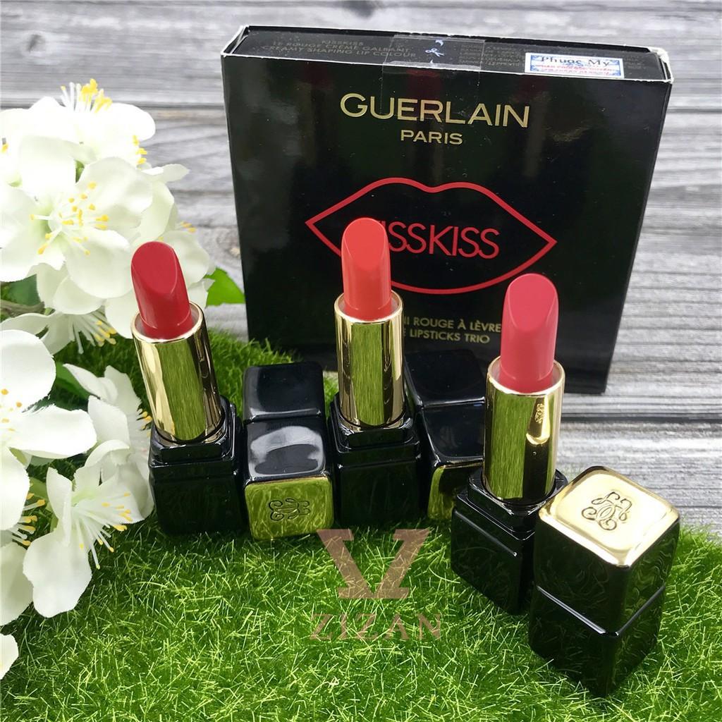 Guerlain Set Son Kiss Kiss MiniSize Lipsticks Trio (3 x1,4g) #334-343-325