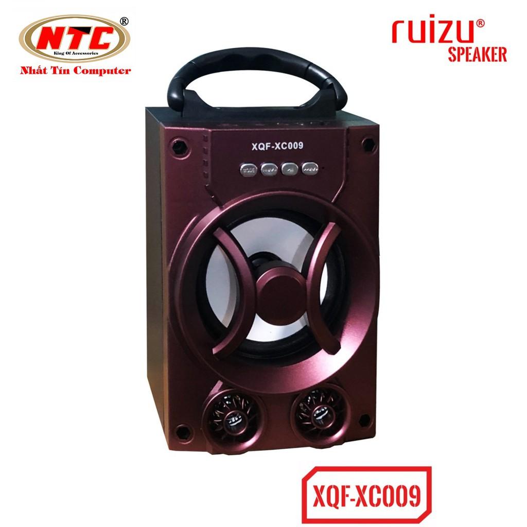 Loa bluetooth mini xách tay Ruizu XQF-XC009 - có đèn Led (Đỏ) - Hãng phân phối chính thức