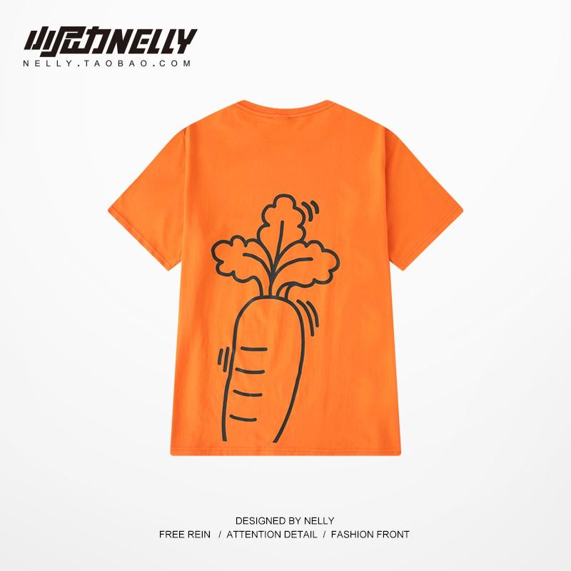 áo thun tay ngắn cổ tròn in hình củ cà rốt