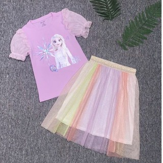 Sét Váy Bé Gái Đầm bé gái Elsa bộ váy áo Elsa cho bé gái Cao Cấp Mềm Mát size 3-10 pony