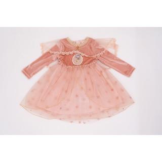 Váy Nhung Công Chúa Cho Bé Gái Crown Space Cao Cấp CKGL6802204 Size 10 - 26kg