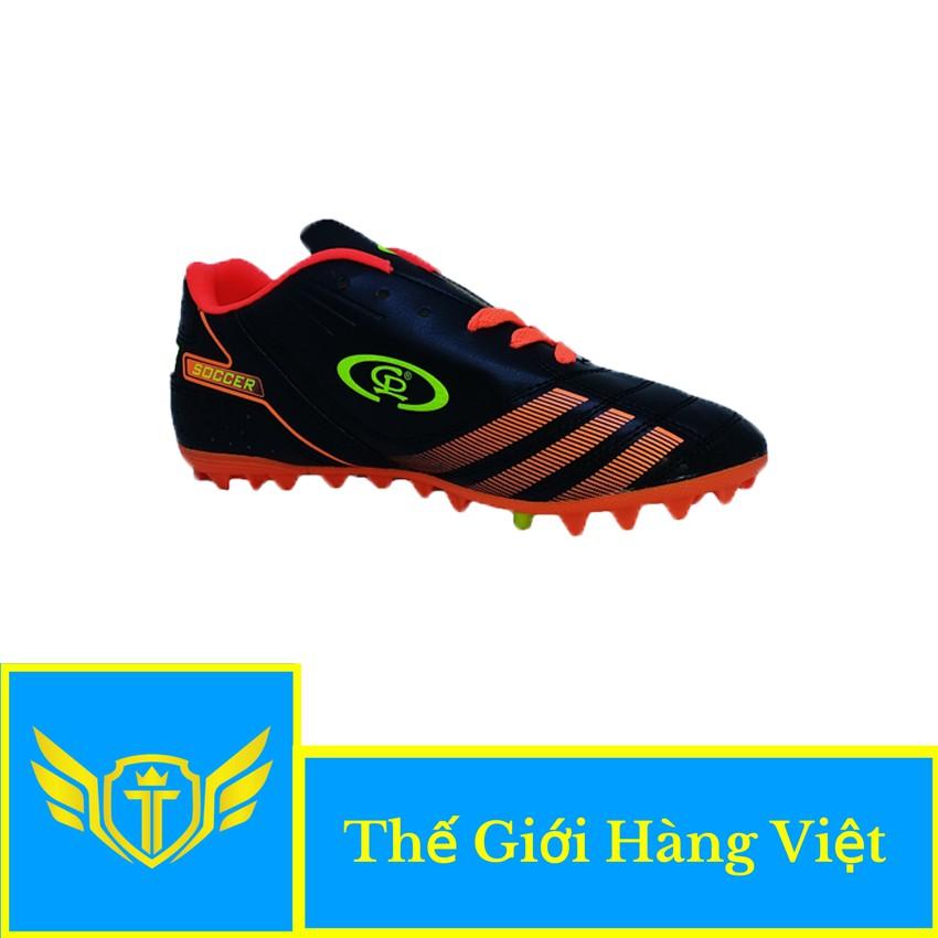 Giày Đá Bóng Sân Cỏ Nhân Tạo CP024T ( Đen Cam)