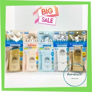 Kem chống nắng Anessa Perfect UV Sunscreen Skincare Milk SPF 50+ PA++ dành cho Da Dầu & Da Dầu Mụn màu vàng 60ml & 20ml thumbnail