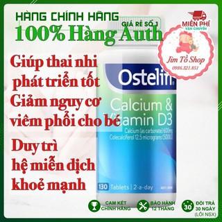 (100% Hàng Auth) Canxi bầu Ostelin Calcium & Vitamin D3, Úc (130 viên) bổ sung Canxi, D3 cho bà bầu, mẹ cho con bú