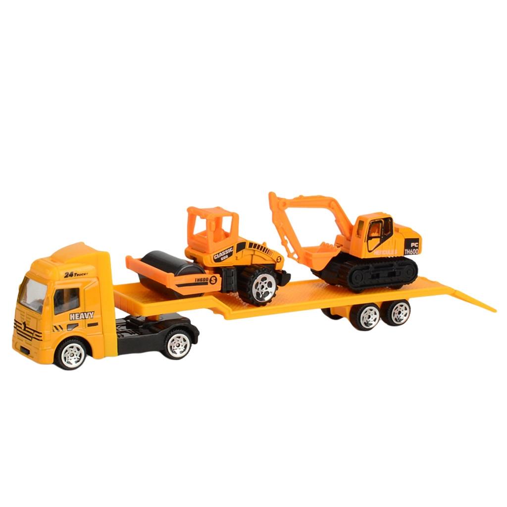 【COD】😺Educational Toy Truck Toy Car Model Scenes Set Portable Storage