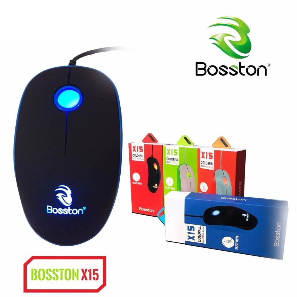 [Mã ELFLASH5 giảm 20K đơn 50K] Chuột game Bosston X15 có đèn led, phiên bản Silent