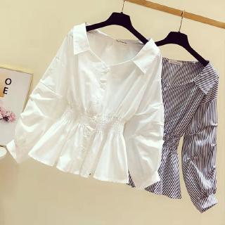 áo sơ mi trắng dài tay thời trang cho búp bê 2019