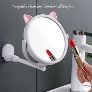 Gương Gắn Tường Xoay 360 Độ Tai Mèo Cute siêu HOT -br00787 thumbnail