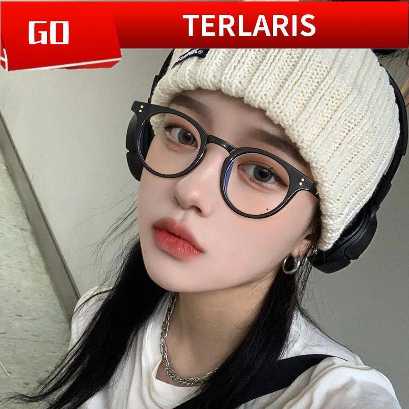 Kính Mát Gọng Nhỏ Màu Đen Phong Cách Retro Hàn Quốc Cho Nữ