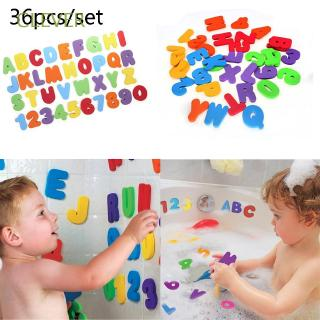 CLEVER 36pcs/set Kids Baby High Quality Bathroom Early Educational Puzzle Bath Toys Alphanumeric