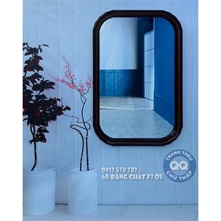 Gương soi toàn thân Gương soi nhà tắm Gương nhà tắm Gương trang điểm Gương bo góc có khung BK