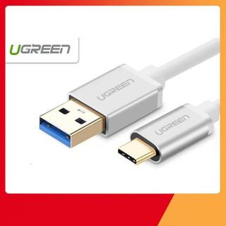 [SẬP GIÁ SỈ = LẺ] Cáp USB 3.0 sang Type C Chính hãng Ugreen 30465 dài 0.5m cao cấp màu Trắng
