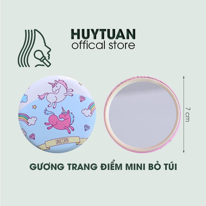 Gương tròn mini đáng yêu Hàn Quốc bỏ túi - Gương soi nhỏ cầm tay di động họa tiết xinh xắn (GM01)
