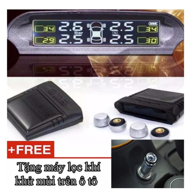 Cảm Biến Áp Suất Lốp Xe Hơi dùng năng lượng mặt trời hoặc nguồn xe hơi TP800