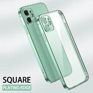 Ốp điện thoại viền mềm mạ màu cổ điển trong suốt dành cho iPhone 11 Pro XS Max X XR 6 6S 7 8 Plus