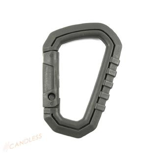 D-Ring Camp Snap Clip Hook Buckle Keychain Hiking Climbing Carabiner