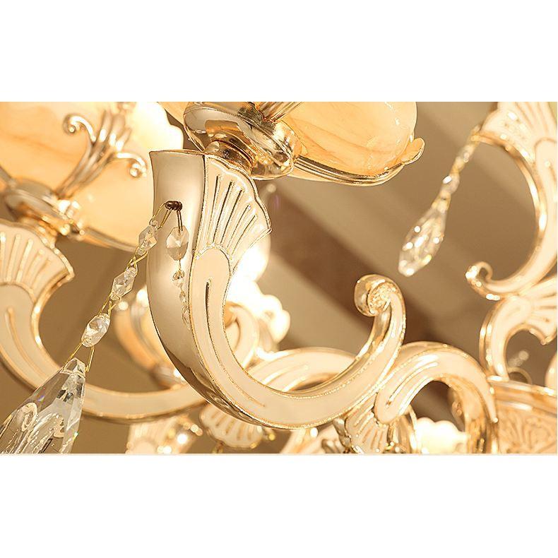 Đèn chùm MONSKY COPTI trang trí pha lê cao cấp loại 15 tay - kèm bóng LED chuyên dụng.