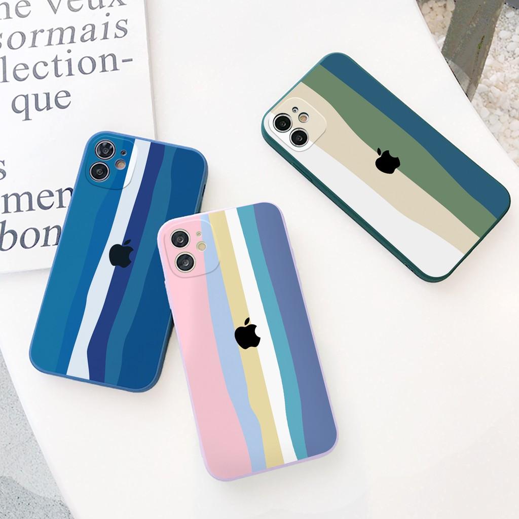 Ốp lưng iphone Cầu vồng cạnh vuông 5/5s/6/6plus/6s/6splus/7/7plus/8/8plus/x/xr/xs/11/12/pro/max/plus/promax