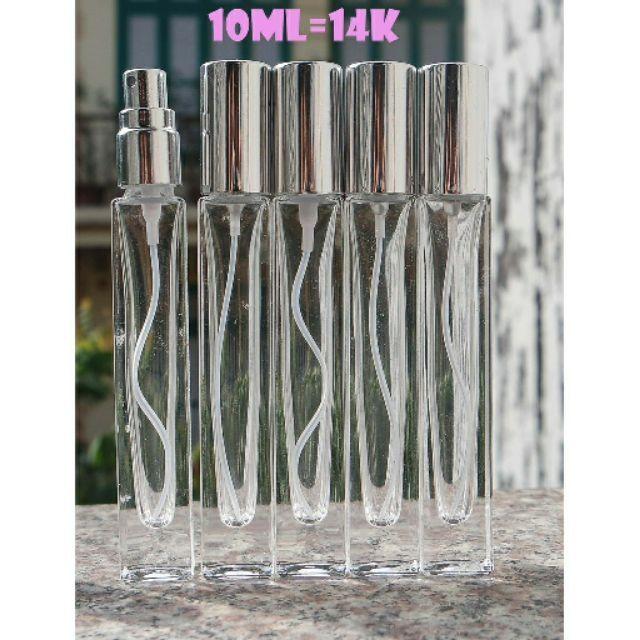 Lọ chiết nước hoa 10ml thủy tinh siêu dầy, siêu đẹp (Vỏ chiết nước hoa/Ống chiết nước hoa/Chai chiết nước hoa)