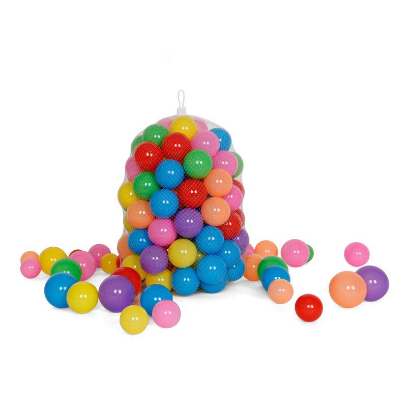 100x Multi- Color Plastic Play Balls Kids Baby Toy For Ball Pit Swimming Pool