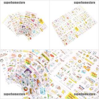 [COD]6 Sheets Kawaii Pig Transparent Stickers Scrapbook Craft Stickers Kids Toy