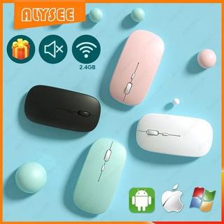 ⚡LED Chuột Không Dây Siêu Mỏng 2.4GHZ Bluetooth Có Thể Sạc
