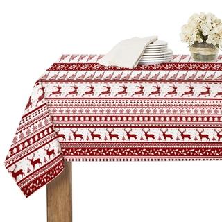 Khăn Trải Bàn Chống Thấm Nước Nhiều Kích Cỡ Thiết Kế Phong Cách Giáng Sinh