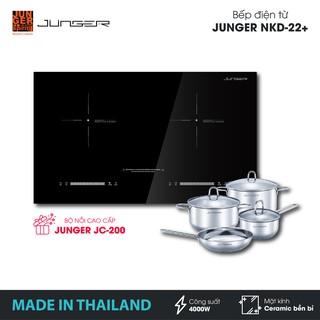 Bếp đôi điện từ Junger NKD-22+ - Công suất 4000W - mặt kính Ceramic | Bảo hành 2 năm | MADE IN THAILAND