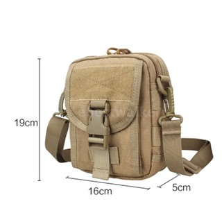 1050D Mili-tary Molle Sport Bag Nylon Waterproof Utility Waist Bag Sling Shoulder Bags Hiking Travel Outdoor Pouch
