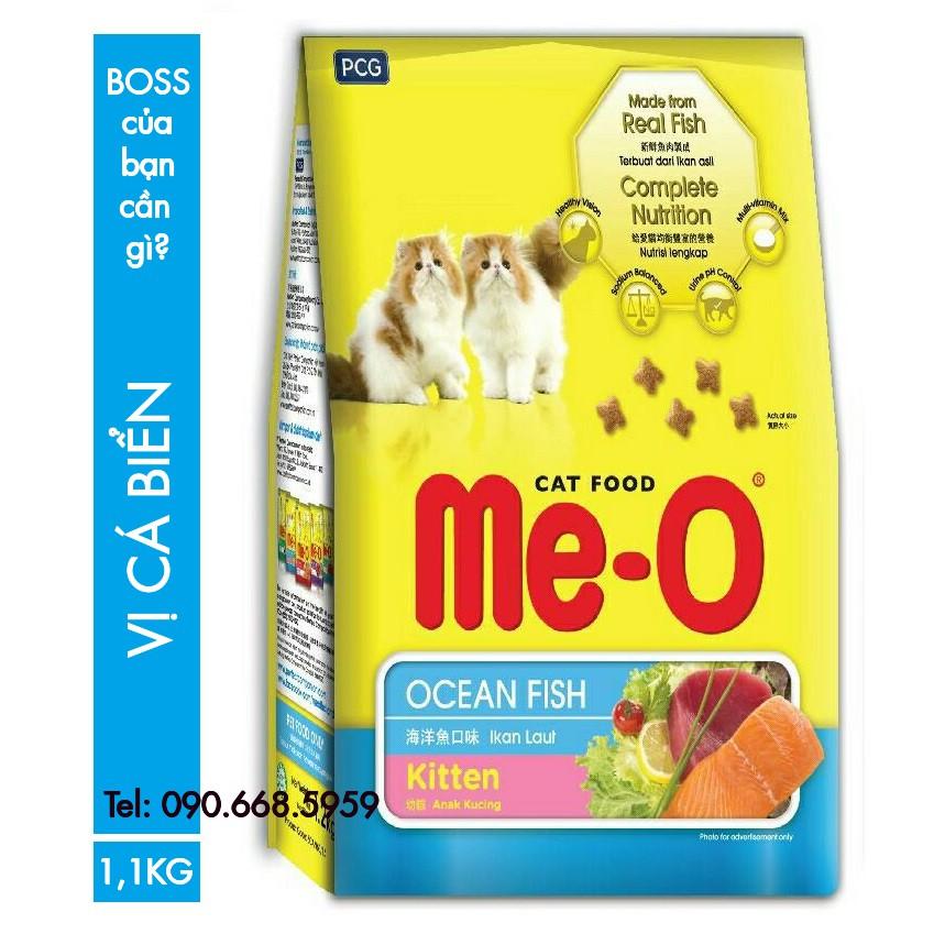 THỨC ĂN HẠT CHO MÈO CON 1,1KG Me-O KITTEN OCEAN FISH